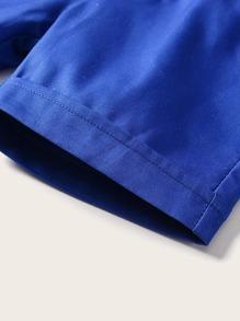 Toddler Boy Side Pocket Suspender Shorts