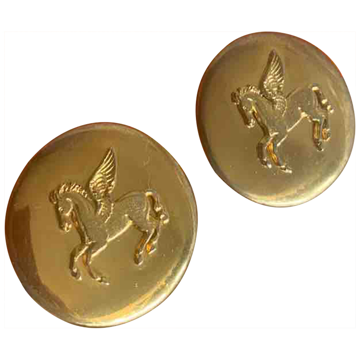 Hermes - Boucles doreilles   pour femme en metal - dore