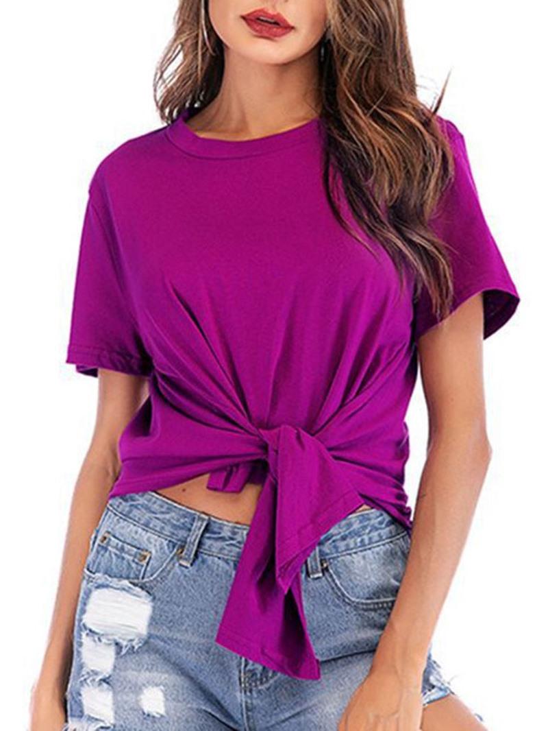Ericdress Standard Plain Round Neck Loose Women's Casual T-Shirt