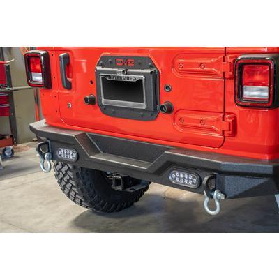 DV8 Offroad Spare Tire Delete Kit (Black) - JLTS-01