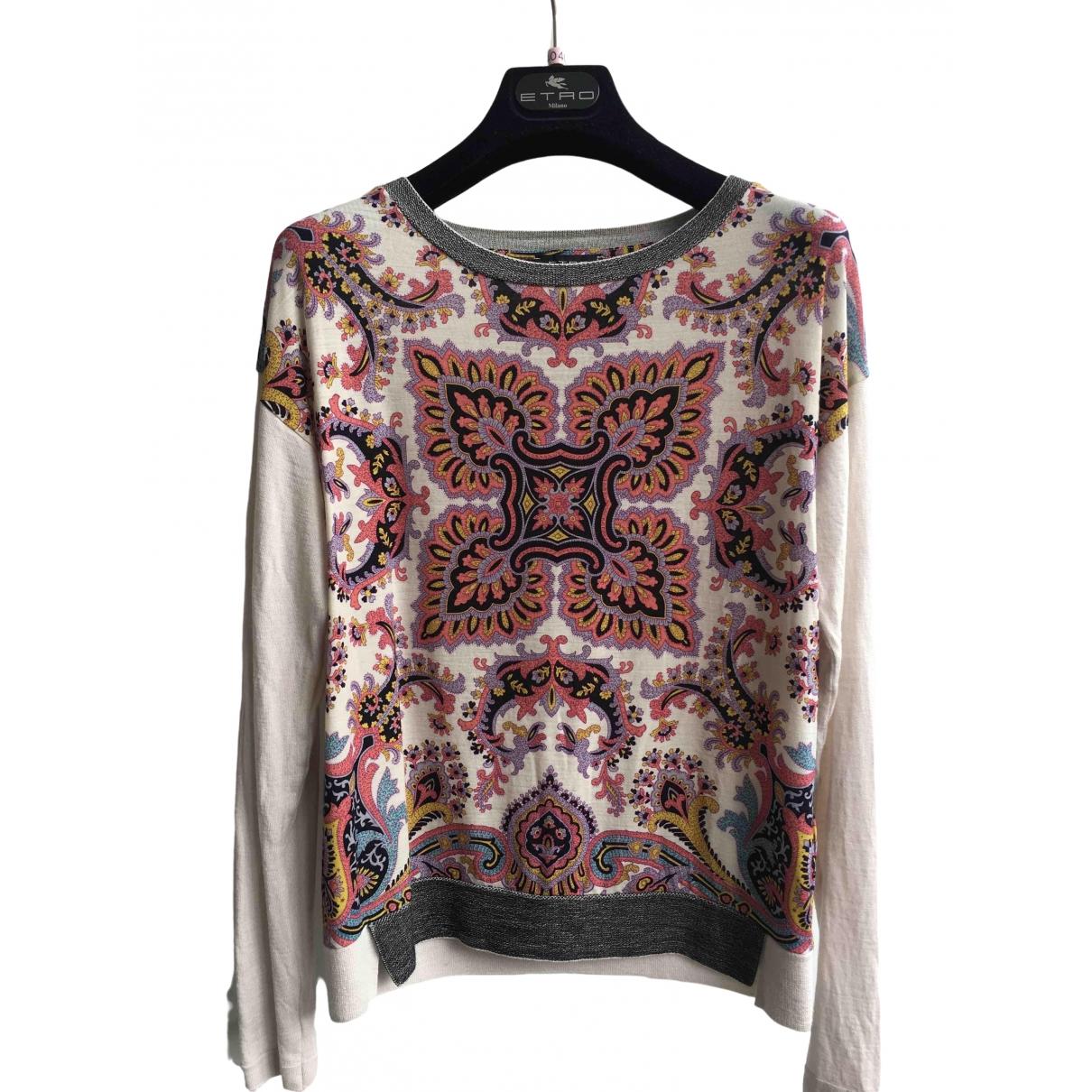 Etro - Pull   pour femme en laine - multicolore