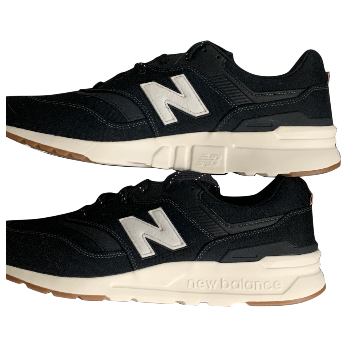 New Balance \N Black Suede Trainers for Men 46.5 EU