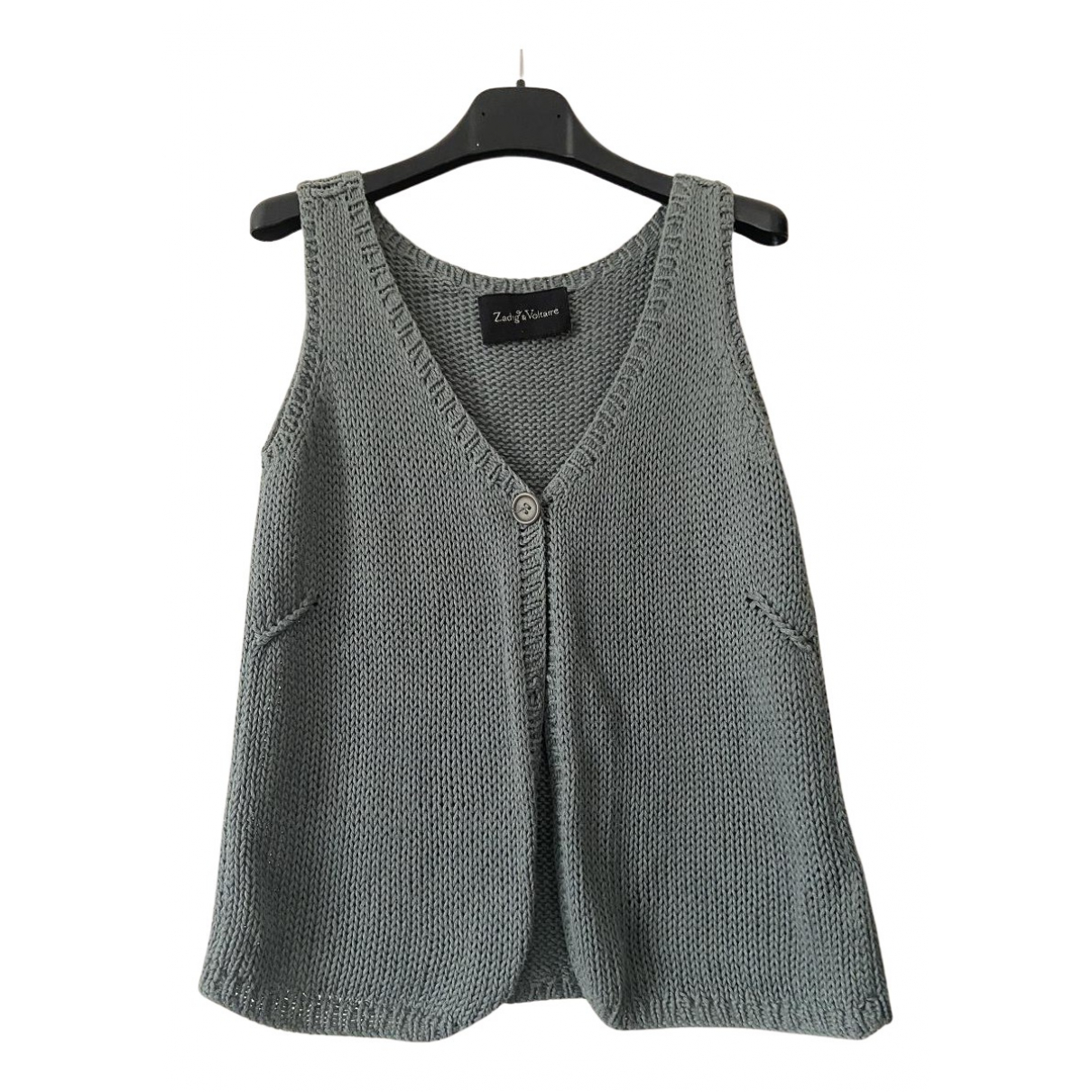 Zadig & Voltaire N Grey Cotton Knitwear for Kids 12 years - XS FR