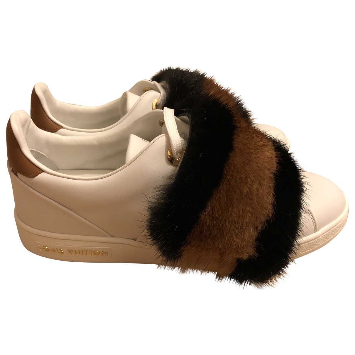 Louis Vuitton \N White Mink Trainers for Women 36 EU