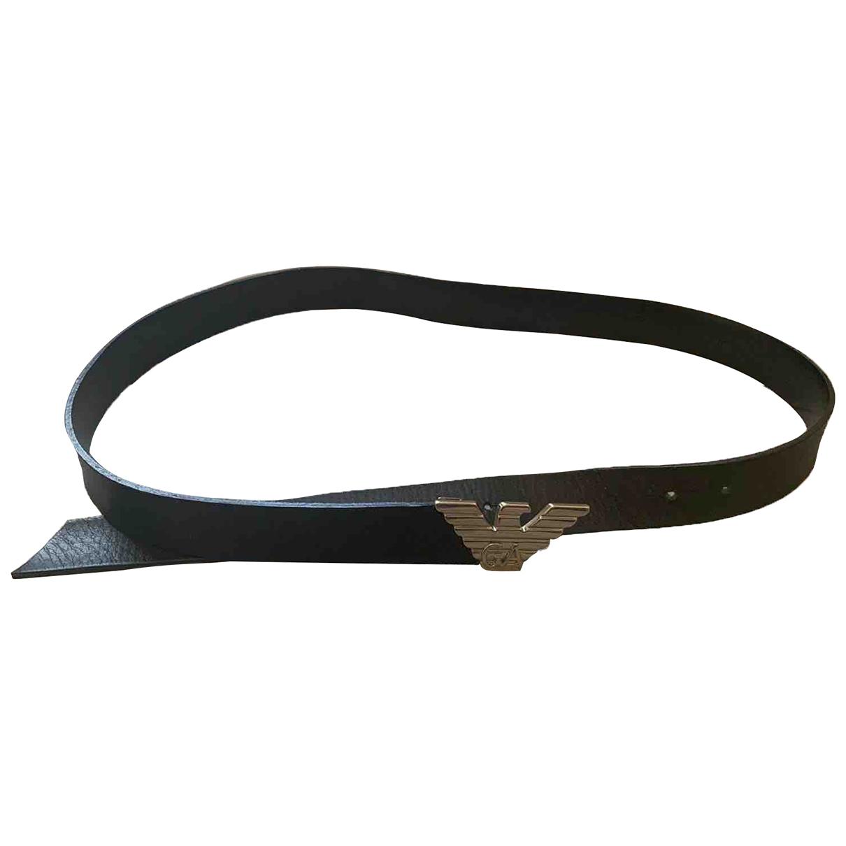 Armani Collezioni \N Black Leather belt for Women M International