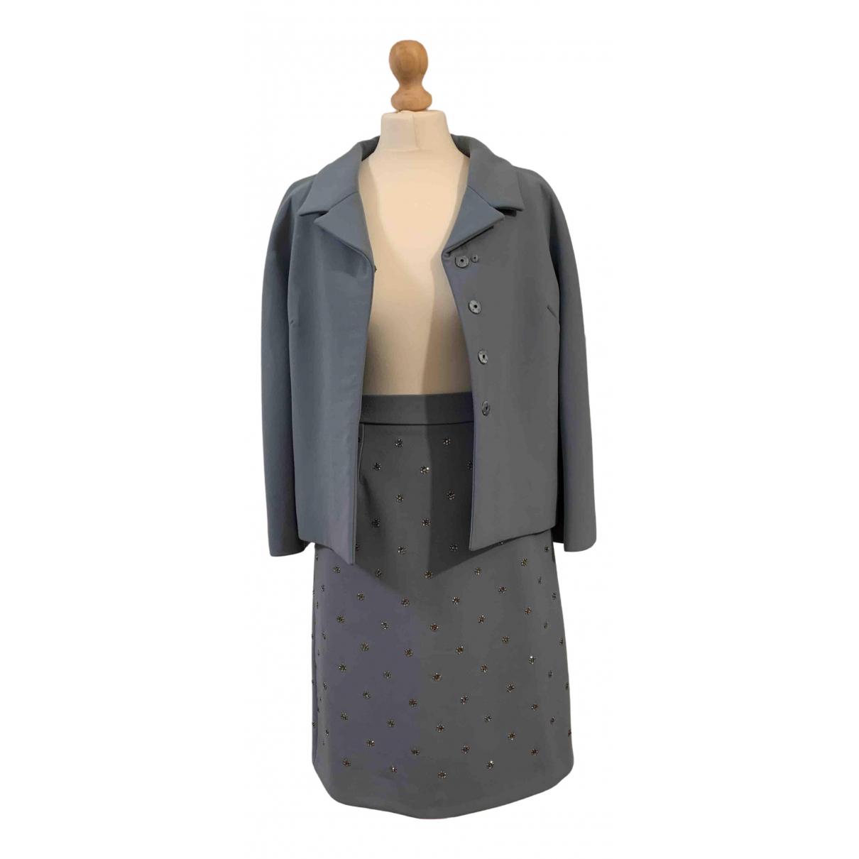 Dolce & Gabbana \N Kleid in  Blau Wolle