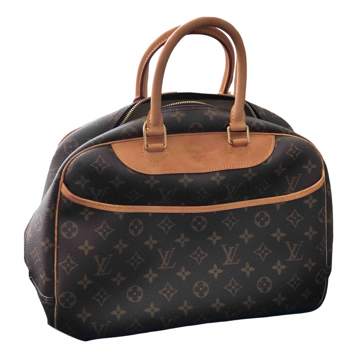 Louis Vuitton - Sac a main Deauville pour femme en toile - marron