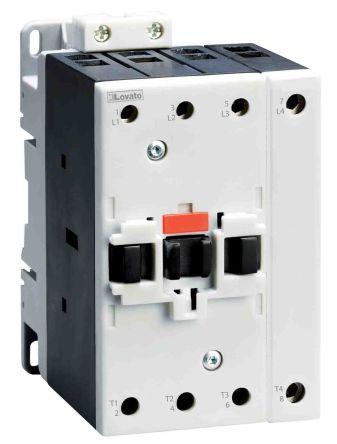 Lovato 4 Pole Contactor - 90 A, 24 V ac Coil, 4NO, 22 kW