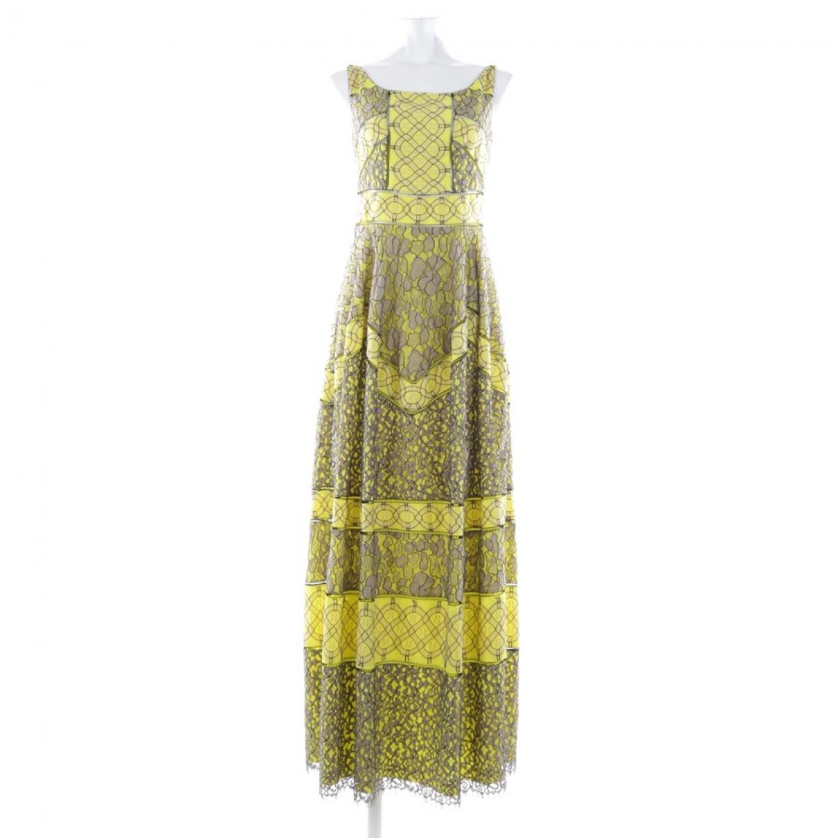 Talbot Runhof \N Yellow Cotton dress for Women 38 FR