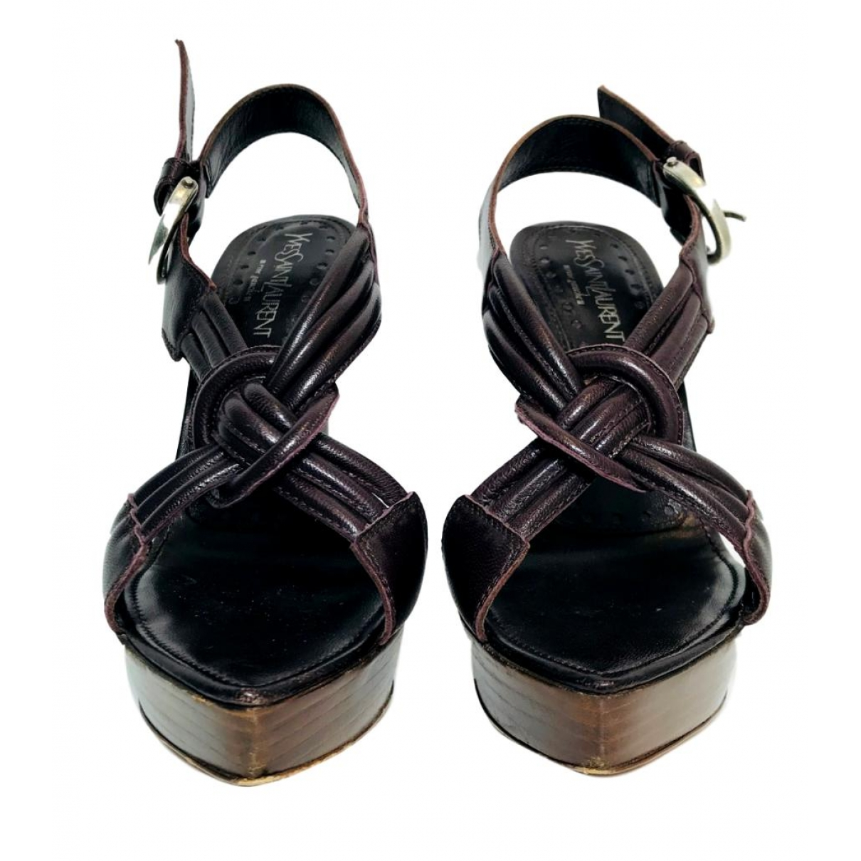 Yves Saint Laurent \N Brown Leather Sandals for Women 37 EU
