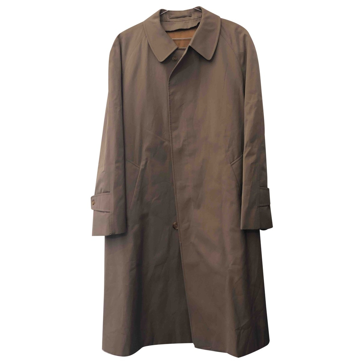 Aquascutum \N Beige Cotton coat  for Men 38 UK - US