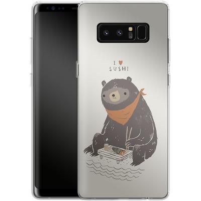 Samsung Galaxy Note 8 Silikon Handyhuelle - Sushi Bear von Louis Ros