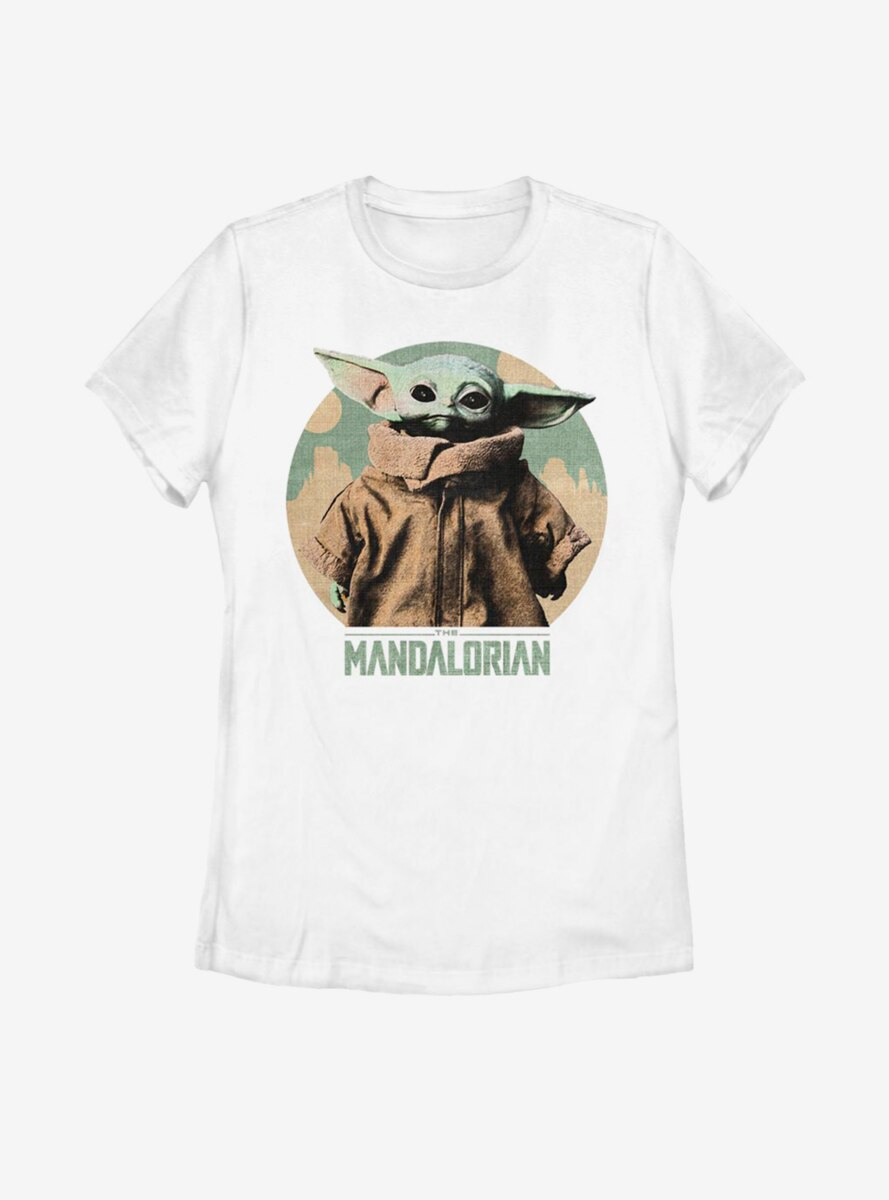 Star Wars The Mandalorian The Child Light Vintage Womens T-Shirt
