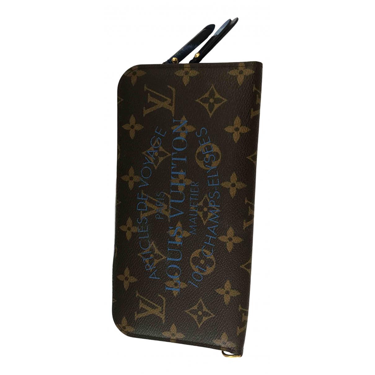 Louis Vuitton - Portefeuille Ikat pour femme en toile - marron