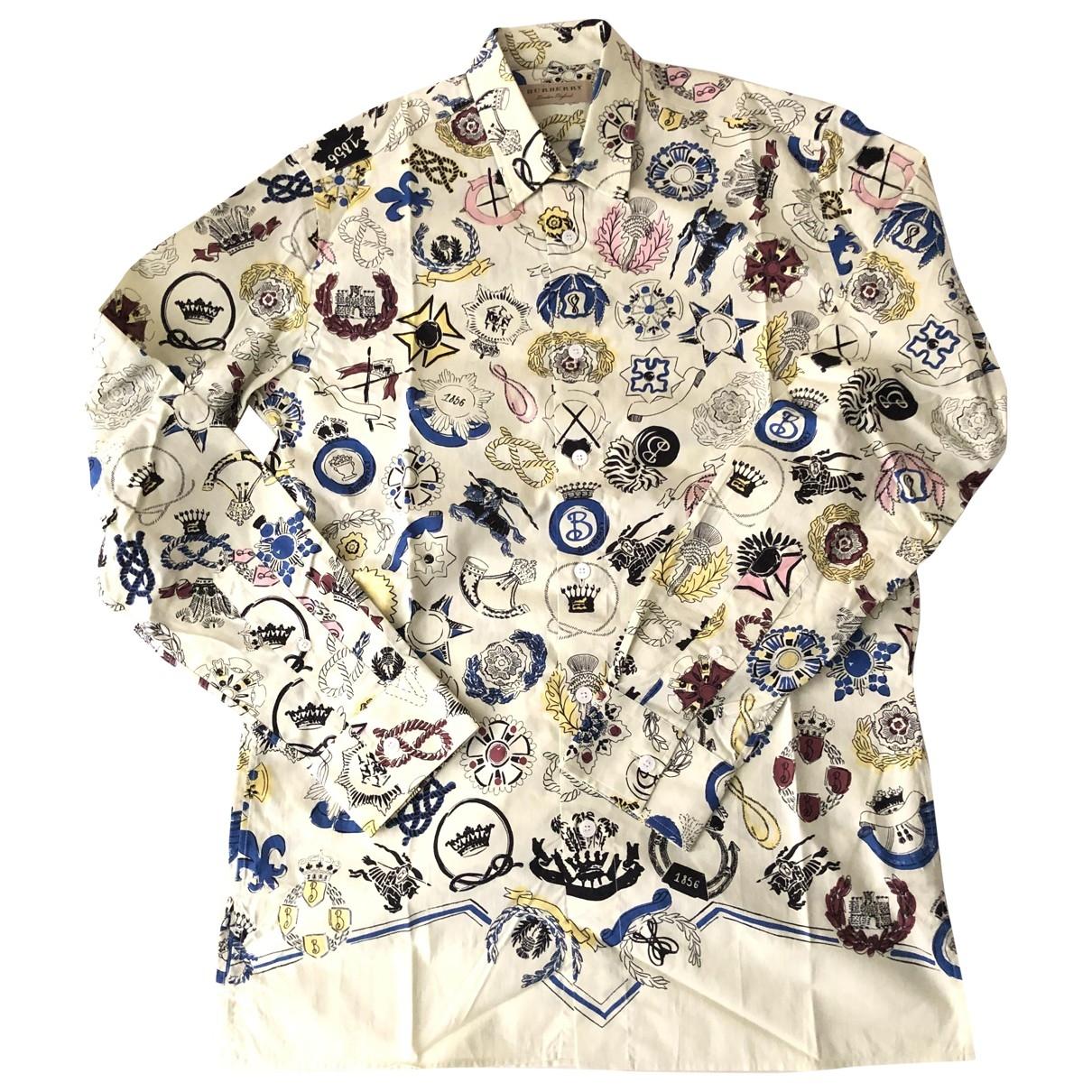 Burberry \N White Cotton Shirts for Men S International