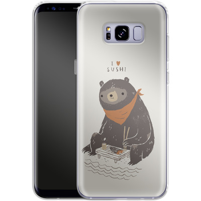 Samsung Galaxy S8 Plus Silikon Handyhuelle - Sushi Bear von Louis Ros