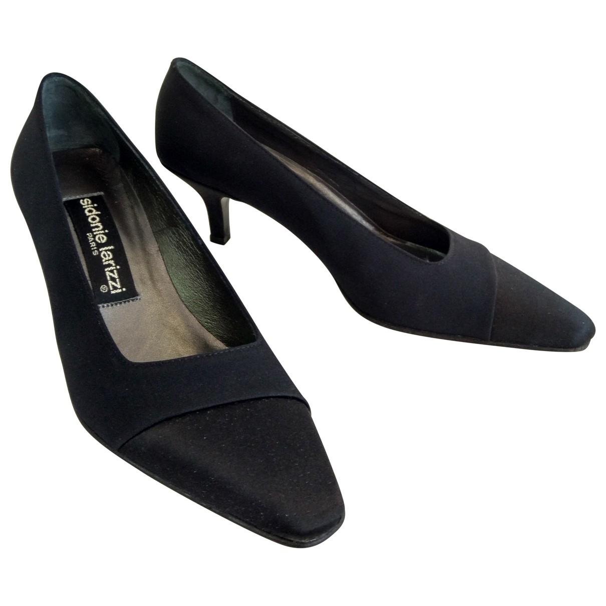 - Escarpins   pour femme en toile - noir