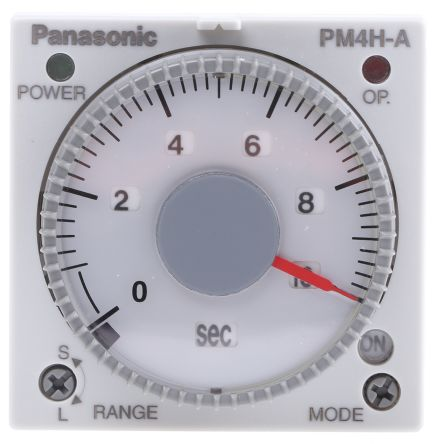 Panasonic Multi Function Timer Relay - 1 s → 500 h, Chassis Mount