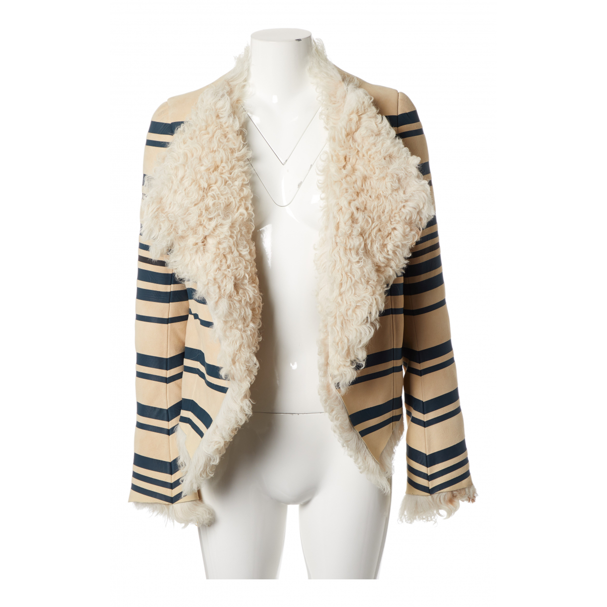 Balenciaga - Veste   pour femme en mouton - blanc