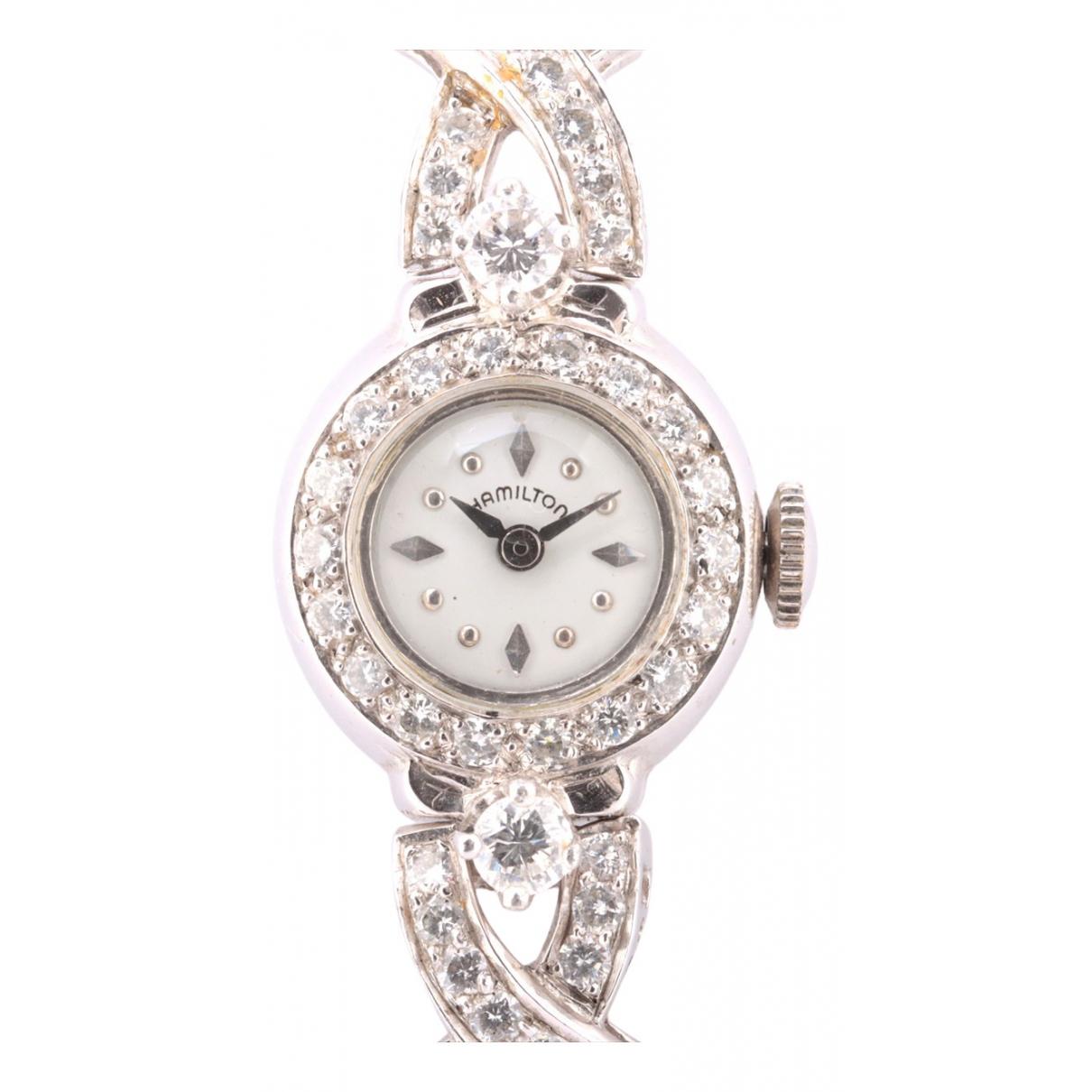 Hamilton \N Uhr in  Silber Platin