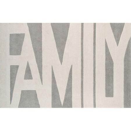 Novogratz By Momeni Family Wordplay Hand Tufted Rectangular Indoor Rugs, One Size , Gray