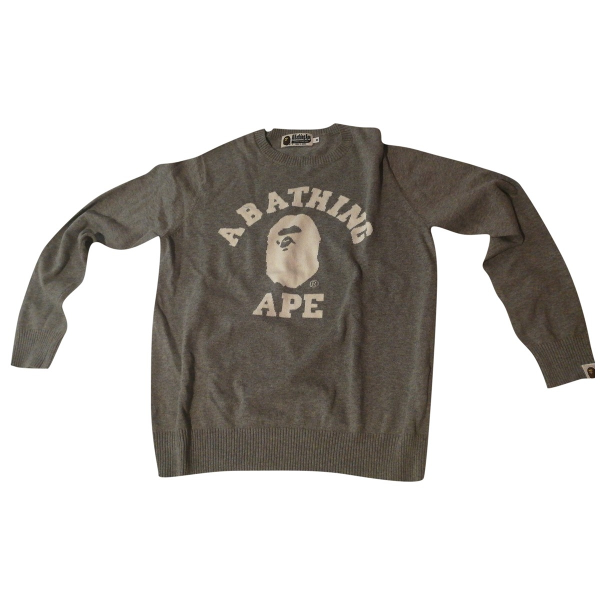 A Bathing Ape \N Grey Cotton Knitwear & Sweatshirts for Men M International