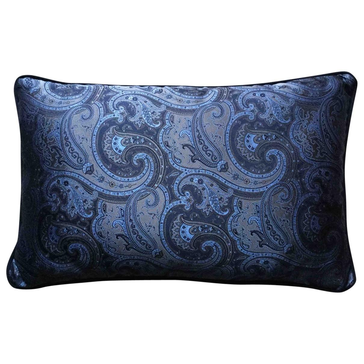 - Linge de maison   pour lifestyle en soie - bleu