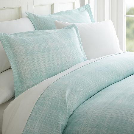 Casual Comfort Premium Ultra Soft Thatch Pattern Duvet Cover Set, One Size , Blue