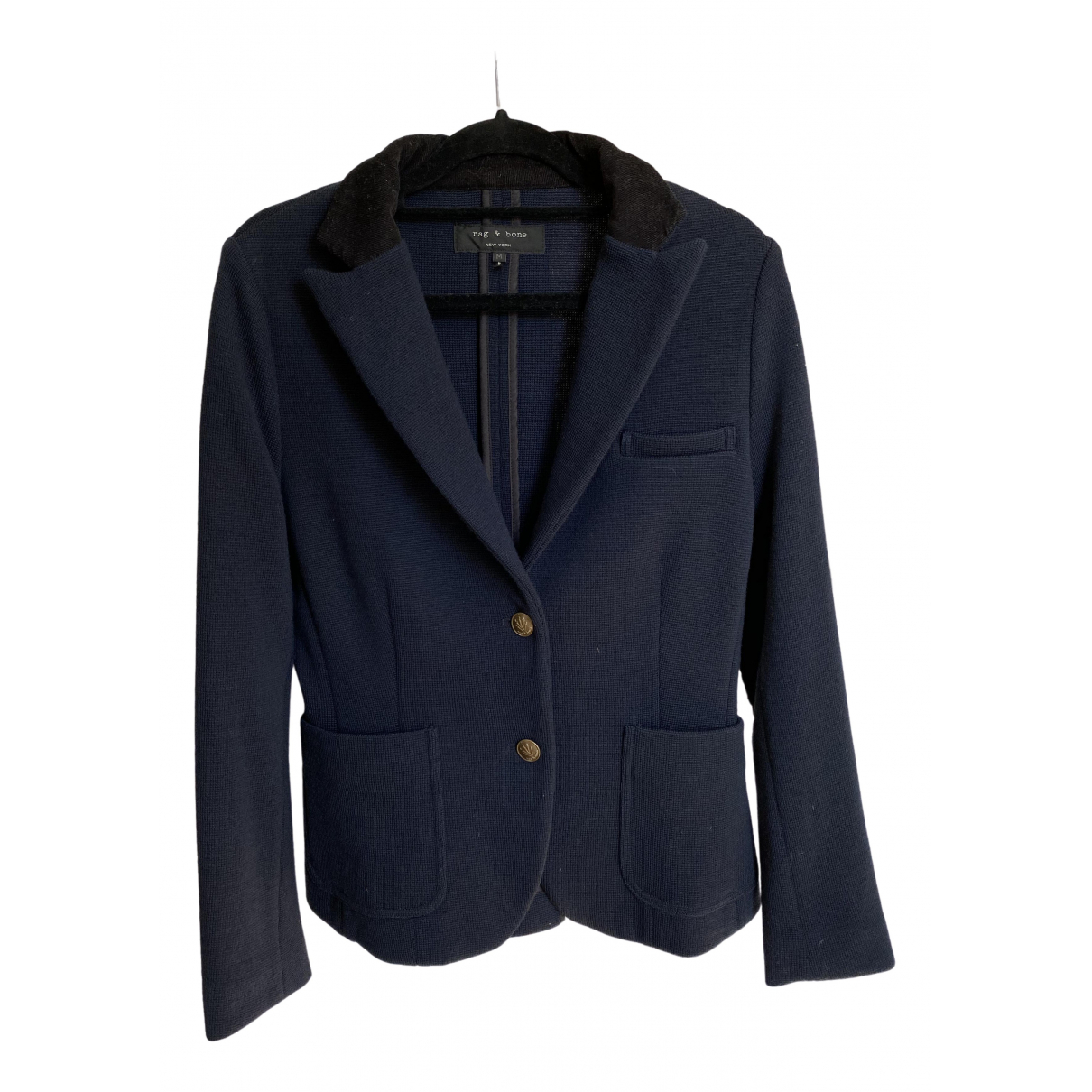 Rag & Bone \N Blue Wool jacket for Women M International