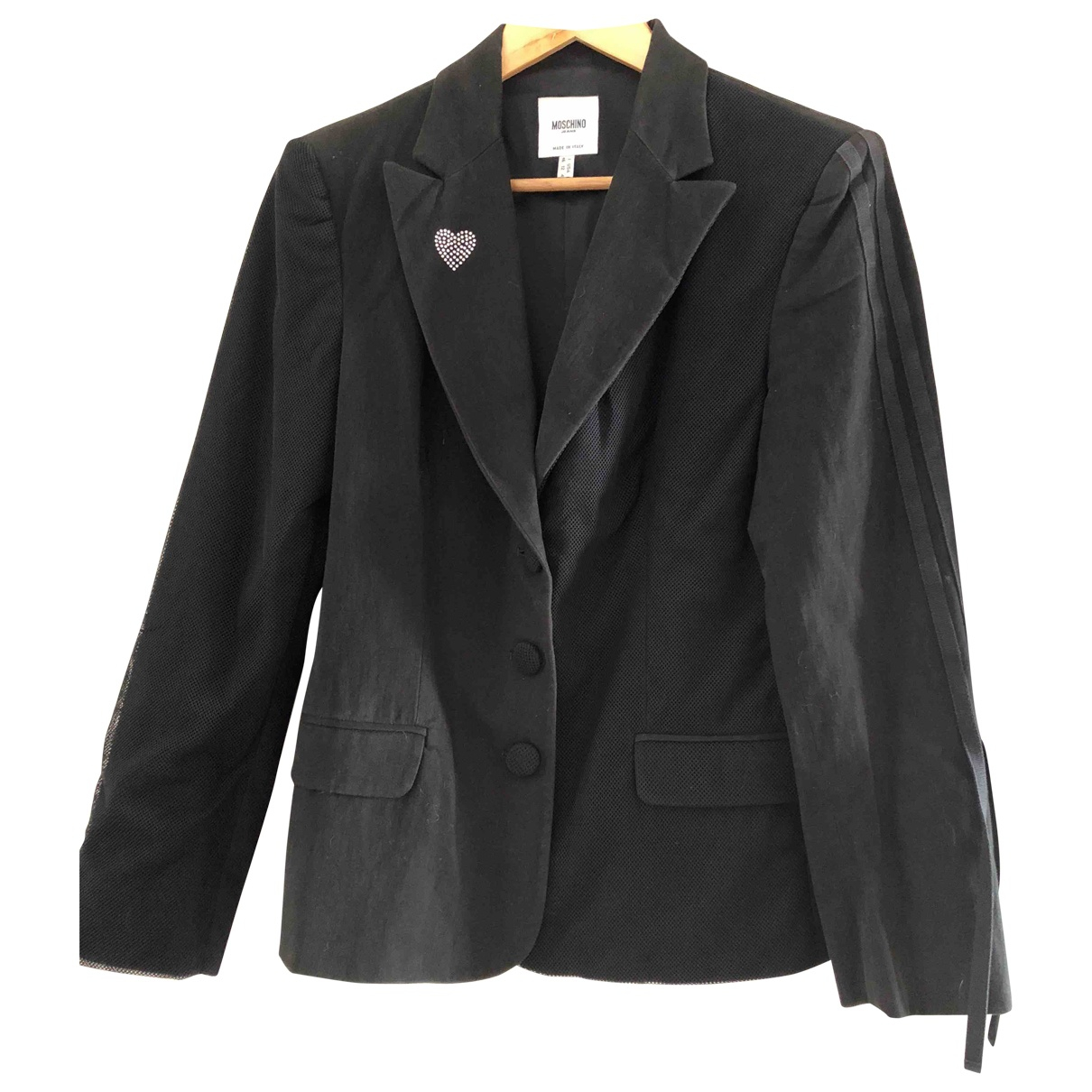 Moschino \N Black Cotton jacket for Women 42 FR