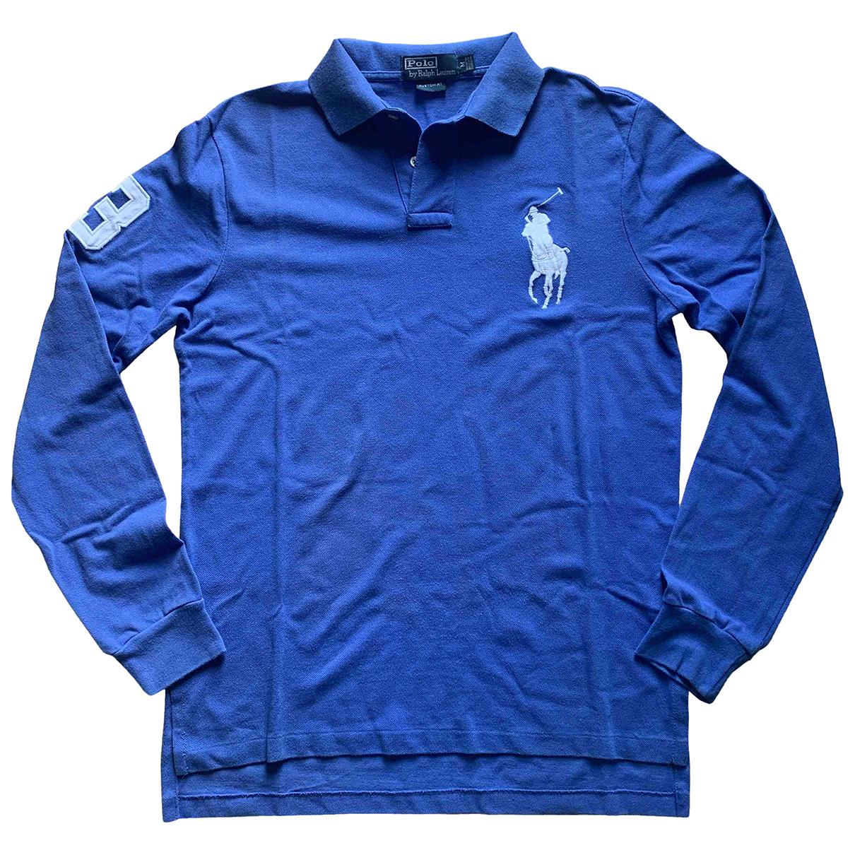 Polo Ralph Lauren Polo ajuste manches longues Poloshirts in  Blau Baumwolle