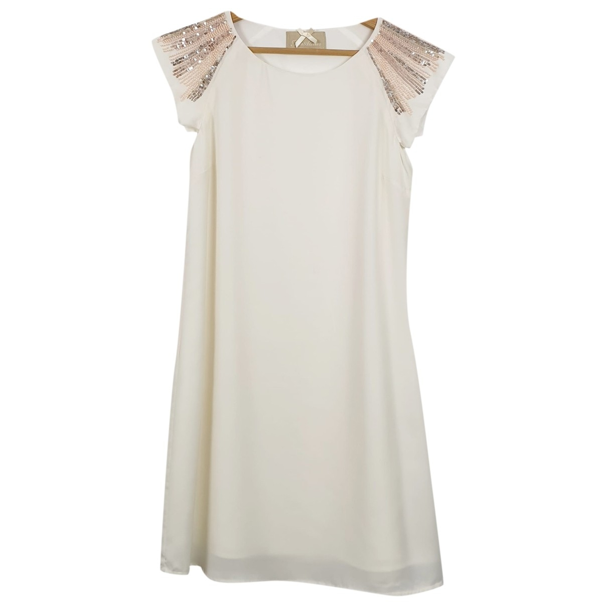 Non Signé / Unsigned Epaulettes White dress for Women 40 IT