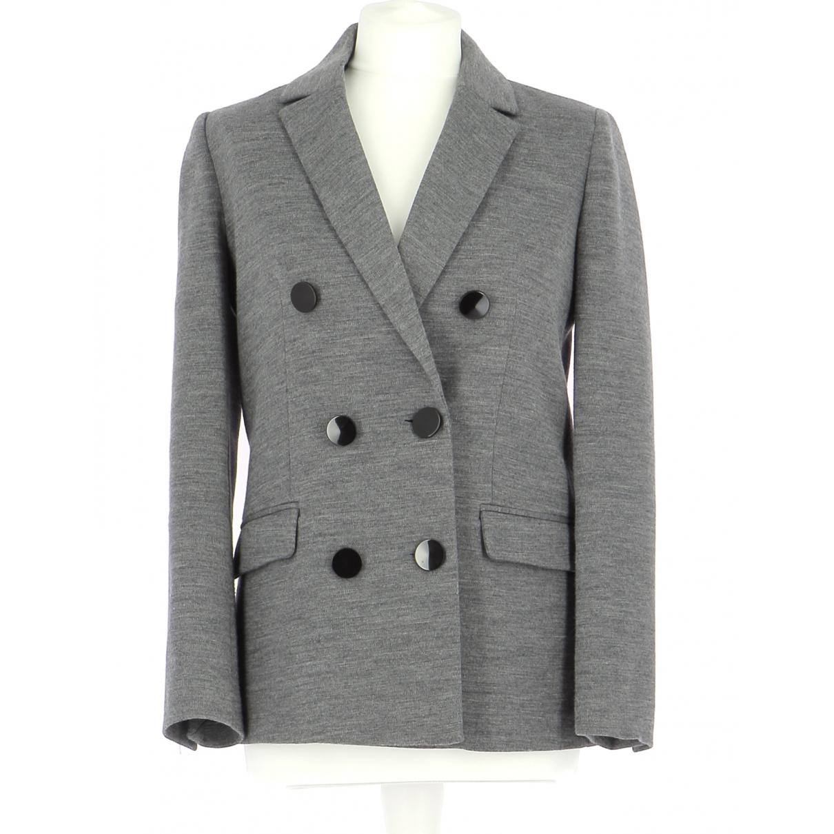 Claudie Pierlot \N Jacke in  Grau Wolle