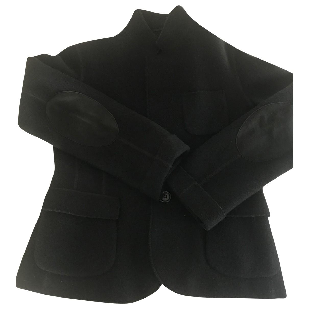 Aspesi \N Jacke in  Schwarz Wolle
