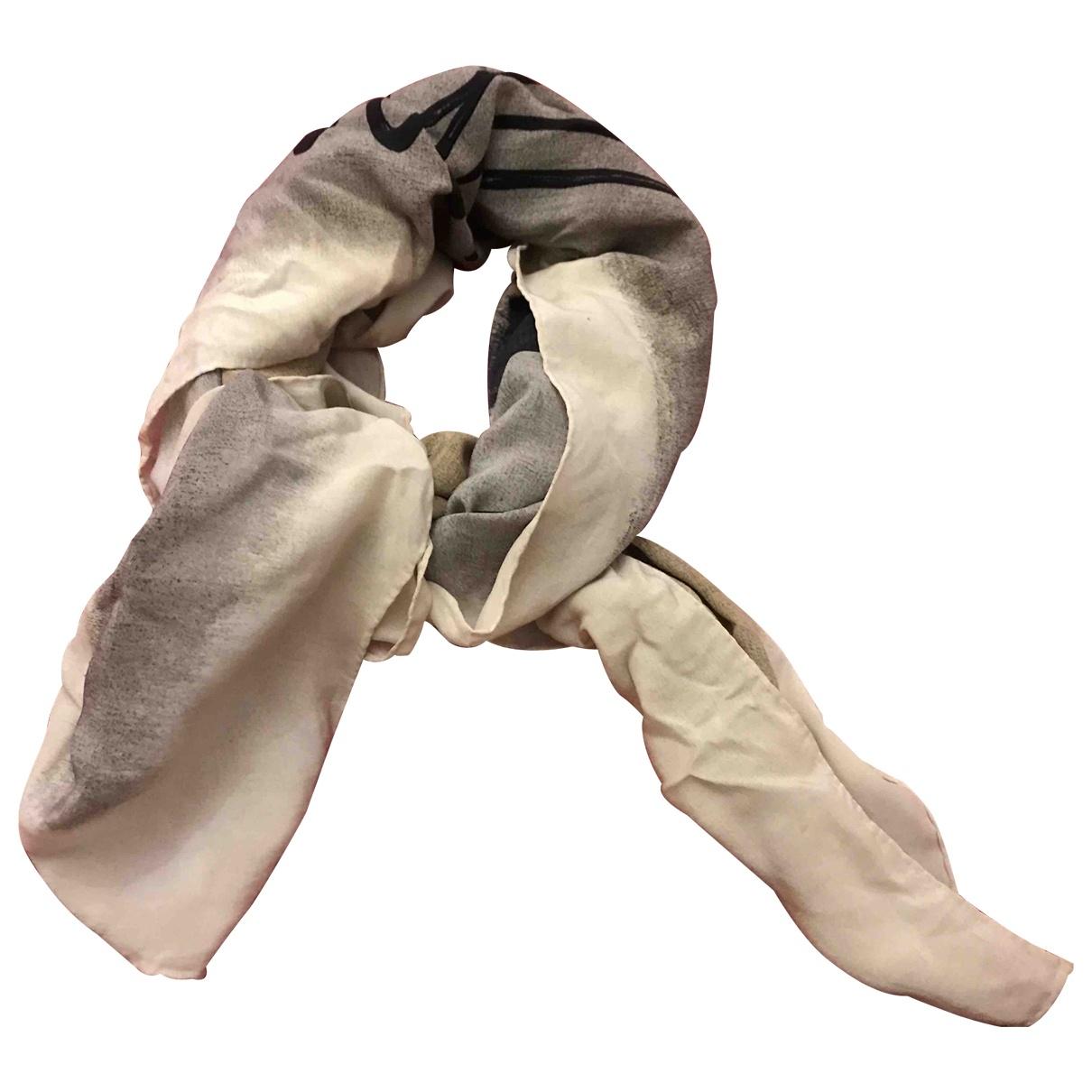 Gucci - Foulard   pour femme en soie - ecru