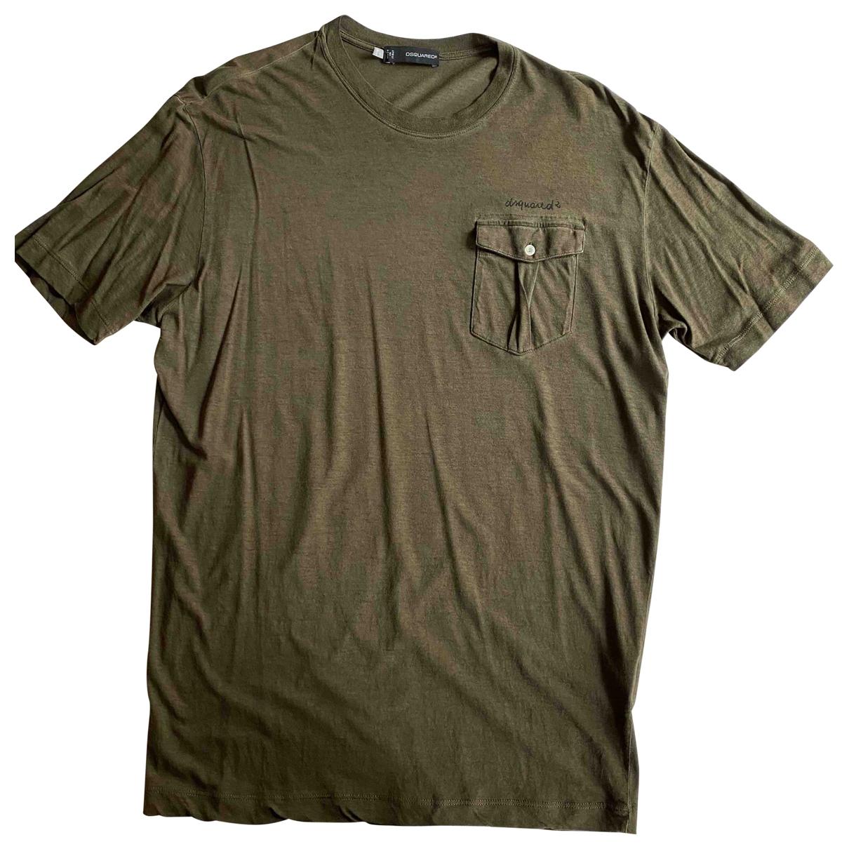 Dsquared2 - Tee shirts   pour homme en coton - vert