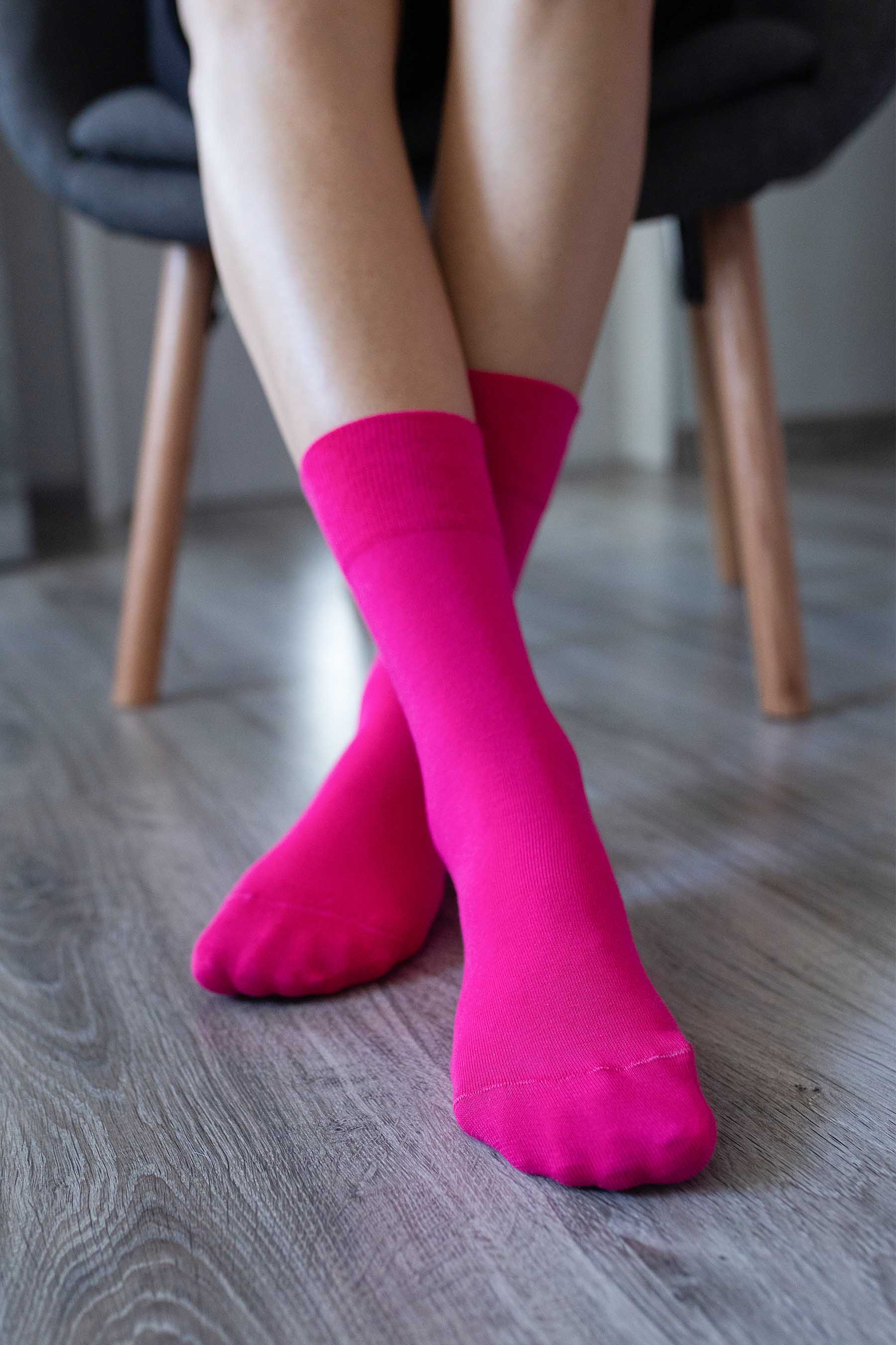 Barefoot Socks - Crew - Pink 43-46