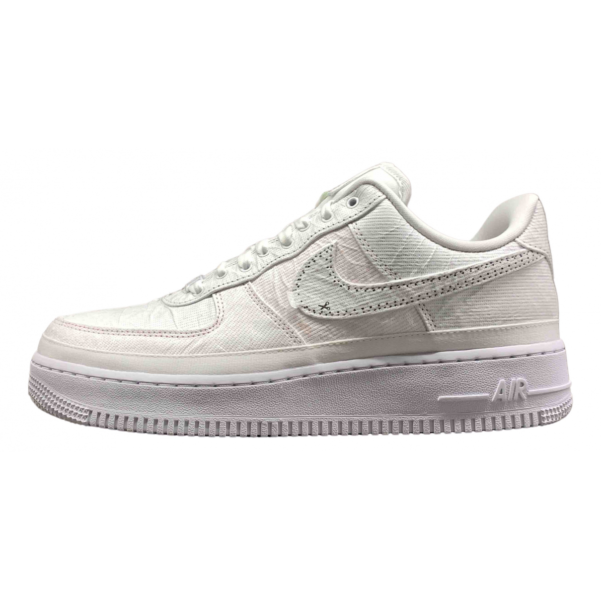 Nike Air Force 1 White Leather Trainers for Men 42 EU