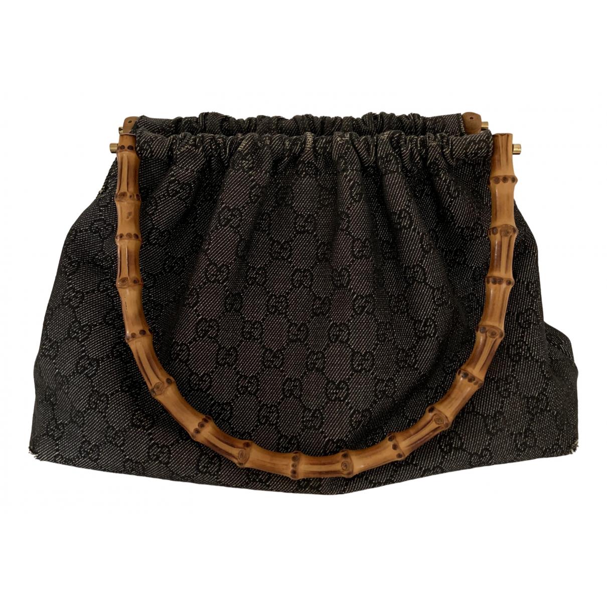 Gucci \N Handtasche in  Grau Baumwolle