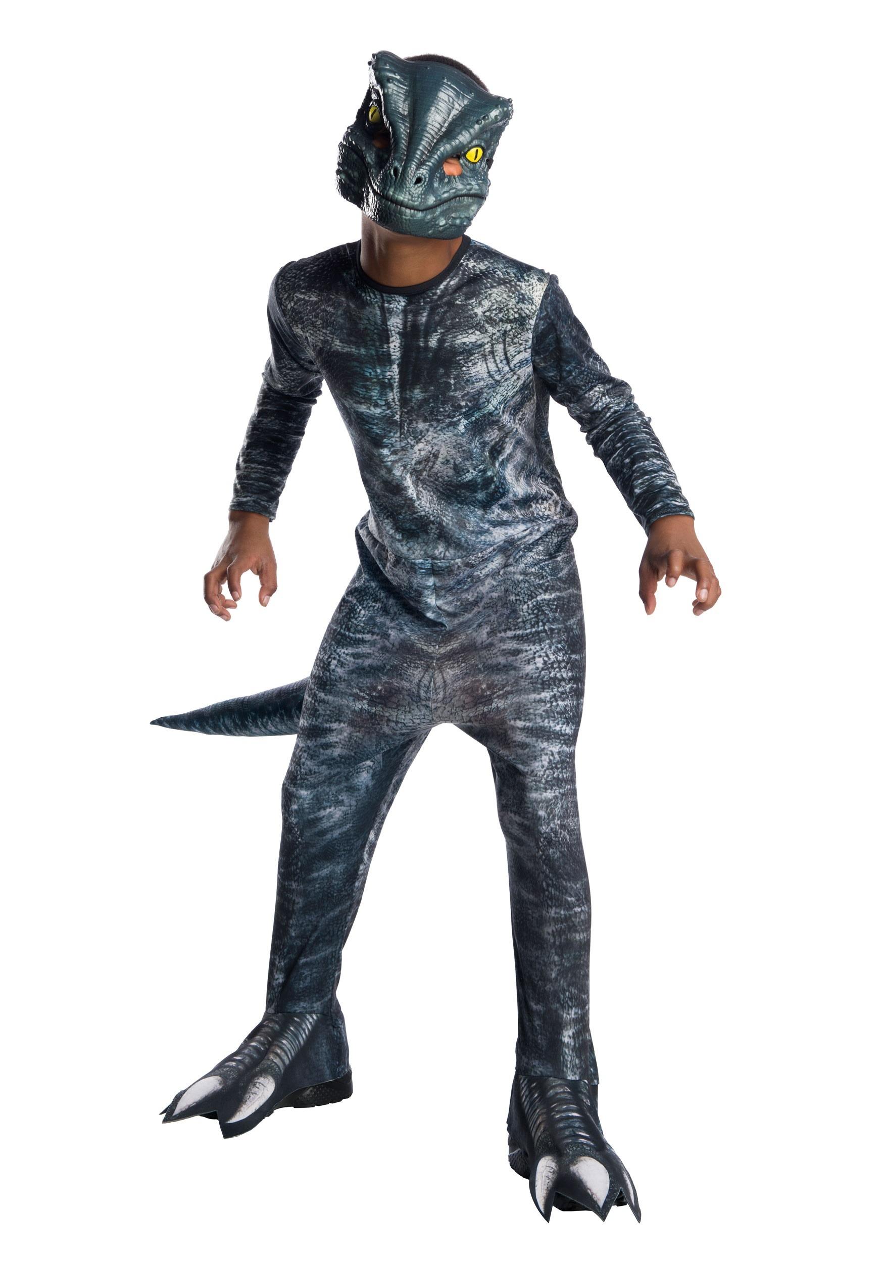 Jurassic World 2 Blue Velociraptor Costume For Kids