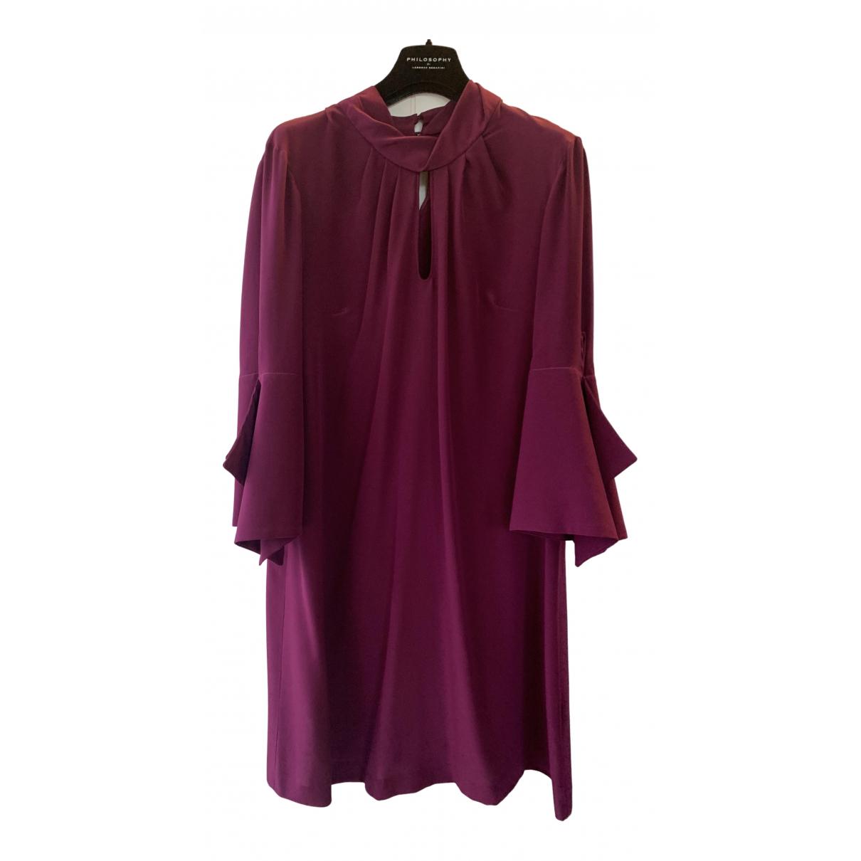 Erika Cavallini N Purple Silk dress for Women 46 IT