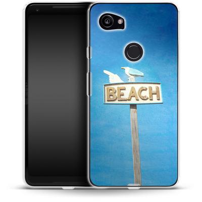 Google Pixel 2 XL Silikon Handyhuelle - Beach von Joy StClaire