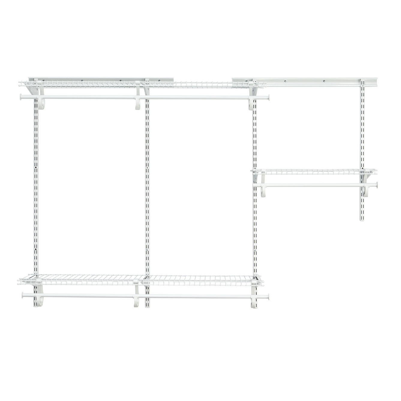 ShelfTrack Adjustable Closet Organizer 3' - 6' W,  White