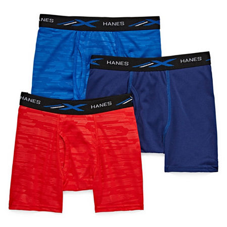 Hanes Little & Big Boys 3 Pack Boxer Briefs, Medium , Multiple Colors