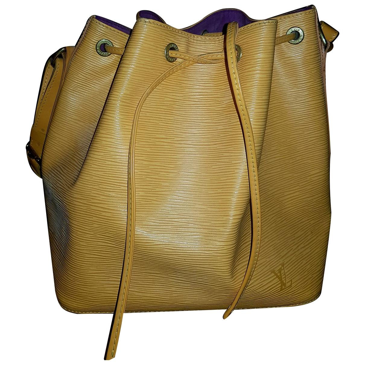 Louis Vuitton - Sac a main NeoNoe pour femme en cuir - jaune