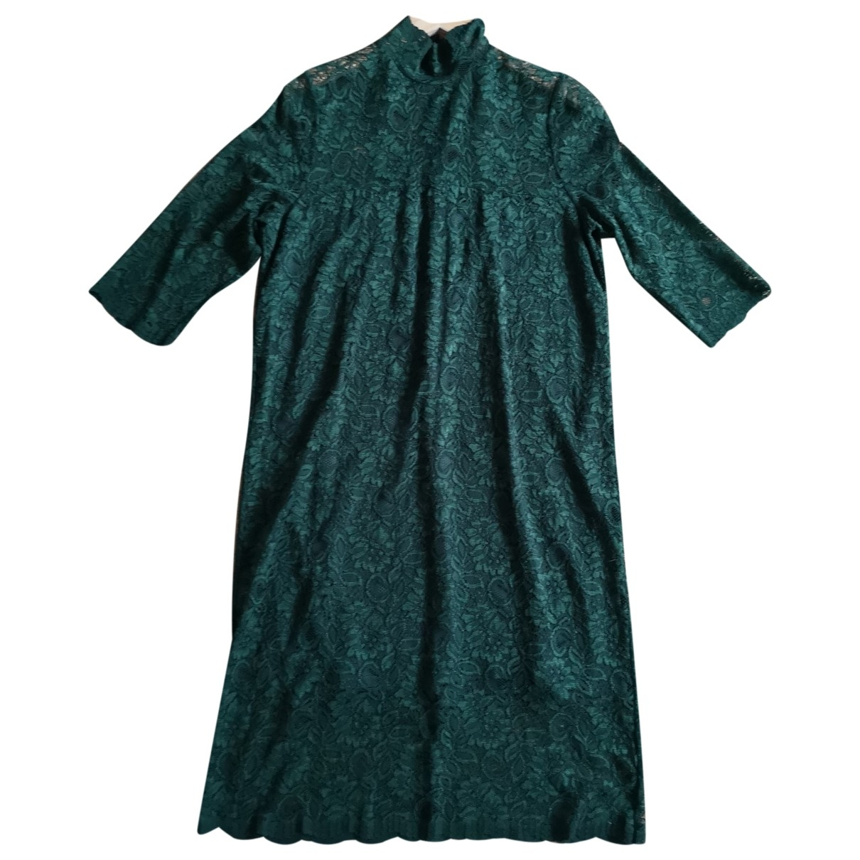 Ganni Fall Winter 2019 Kleid in  Gruen Polyester