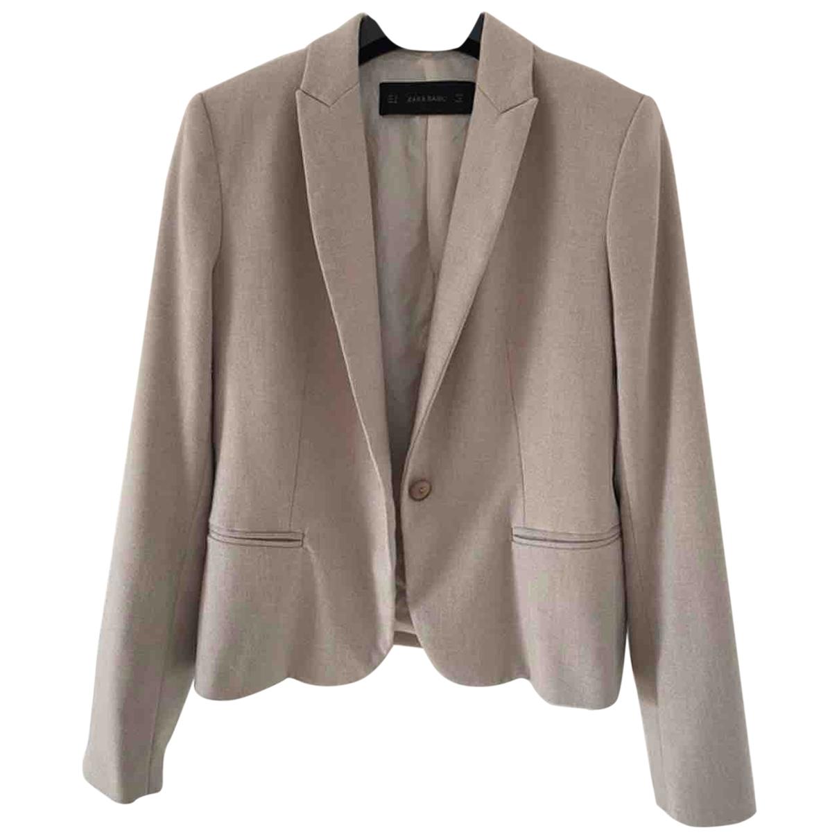 Zara - Veste   pour femme - beige