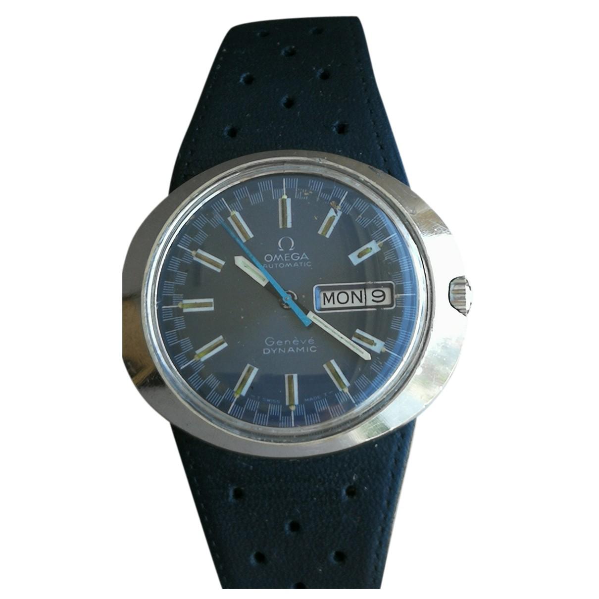 Omega - Montre   pour homme en acier - bleu