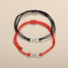 2 piezas brazalete con cuerda