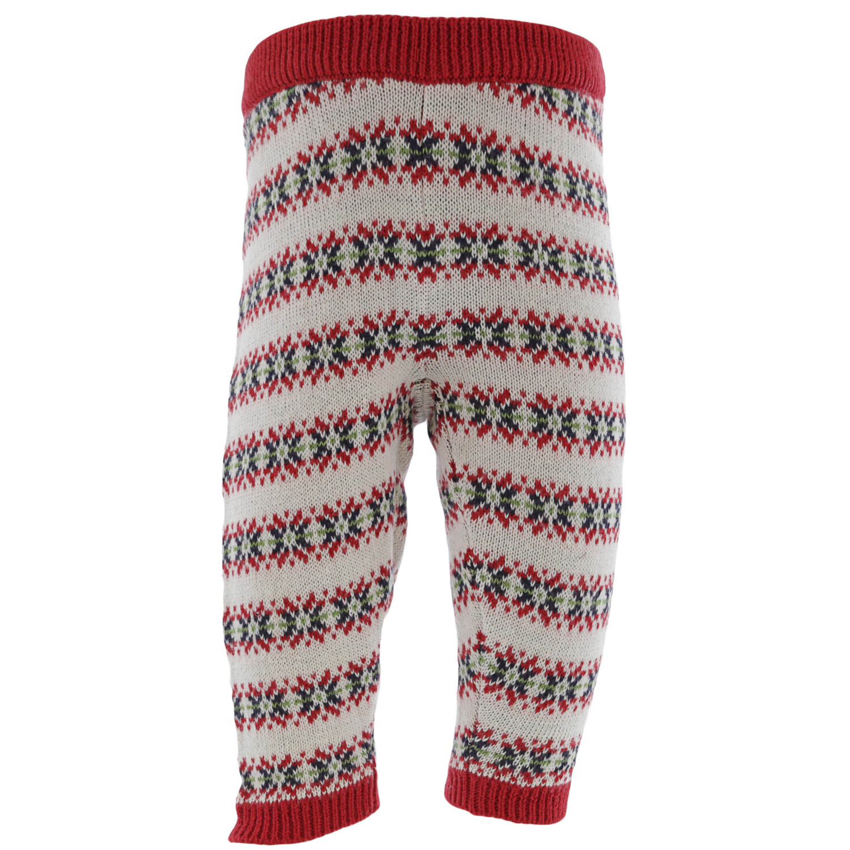Janie And Jack Boy's Fair Isle Sweater Pant Athletic Bottom - 0-3 Months - Crimson Fair Isle